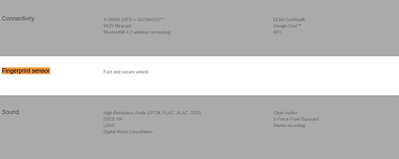 Sony Xperia XZのイギリス向け製品ページ