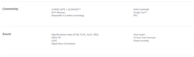 Sony Xperia XZのアメリカ向け製品ページ