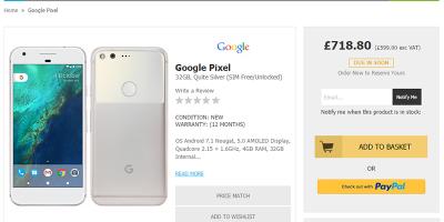 HandtecでGoogle Pixelの購入予約受付がスタート
