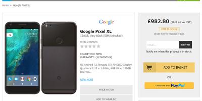HandtecでGoogle Pixel XLの購入予約受付がスタート
