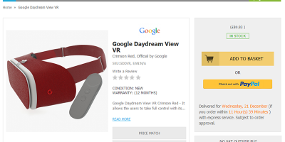 Handtec Google Daydream View 商品ページ