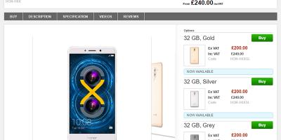 Clove Huawei Honor 6X 商品ページ