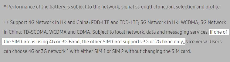 Galaxy C9 ProのDSDS対応状況
