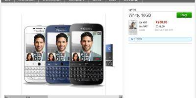 Clove BlackBerry Classic 商品ページ