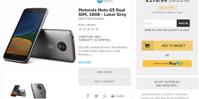 Handtec Motorola Moto G5 商品ページ
