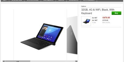 Clove Sony Xperia Z4 Tablet SGP771 商品ページ