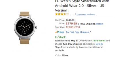 Amazon.com LG Watch Style 商品ページ