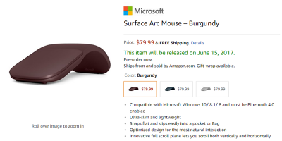 Amazon.com Surface Arc Mouse 商品ページ