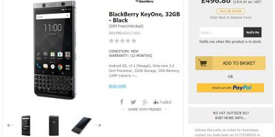 Handtec BlackBerry KEYone 商品ページ