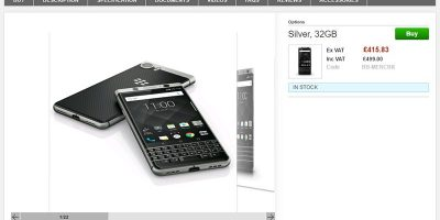 Clove BlackBerry KEYone 商品ページ