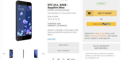 Handtec HTC U11 商品ページ