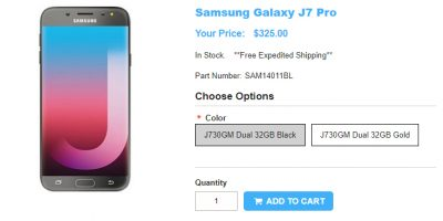 1ShopMobile.com Samsung Galaxy J7 Pro 商品ページ
