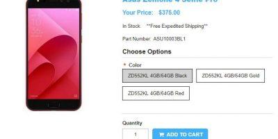 1ShopMobile.com ASUS ZenFone 4 Selfie Pro 商品ページ