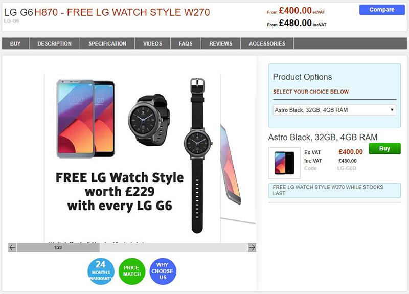 Clove LG G6 商品ページ