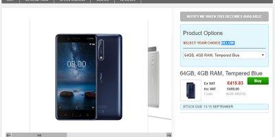 Clove Nokia 8 商品ページ