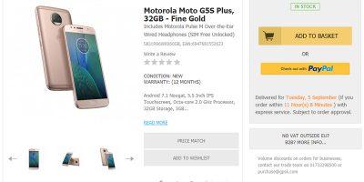 Handtec Motorola Moto G5S Plus 商品ページ