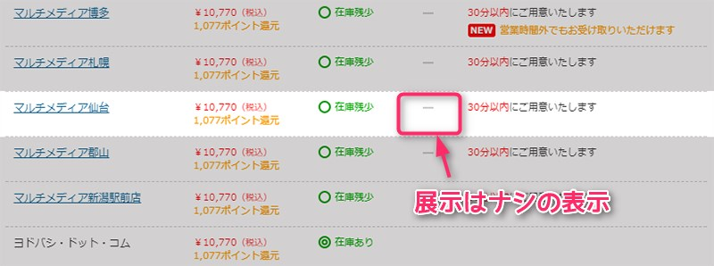 ヨドバシカメラ Huawei Band 2 Pro 展示情報