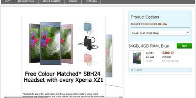 Clove Sony Xperia XZ1 商品ページ