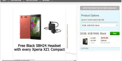 Clove Sony Xperia XZ1 Compact 商品ページ