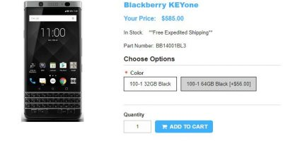 1ShopMobile.com BlackBerry KEYone 商品ページ