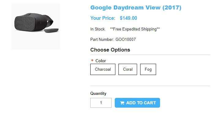 1ShopMobile.com Google Daydream View 商品ページ