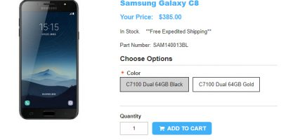 1ShopMobile.com Samsung Galaxy C8 商品ページ