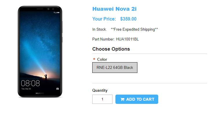 1ShopMobile.com Huawei Nova 2I 商品ページ