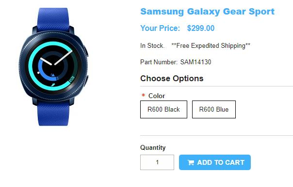 1ShopMobile.com Samsung Gear Sport 商品ページ