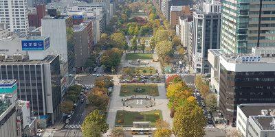 さっぽろテレビ塔から見下ろした大通公園