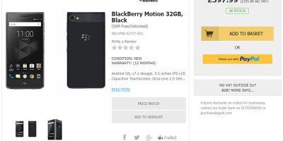 Handtec BlackBerry Motion 商品ページ