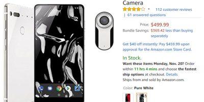Amazon.com Essential Phone 商品ページ