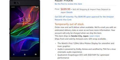 Amazon.com Razer Phone 商品ページ