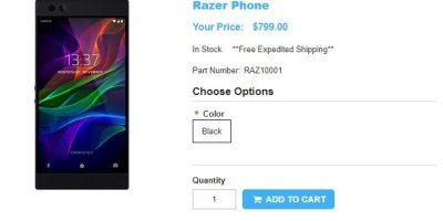 1ShopMobile.com Razer Phone 商品ページ