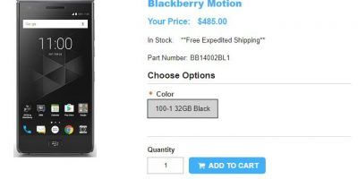 1ShopMobile.com BlackBerry Motion 商品ページ