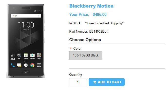 1ShopMobile.com BlackBerry Motion 商品ページ
