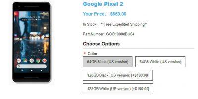 1ShopMobile.com Google Pixel 2 商品ページ