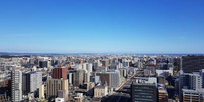 仙台駅東口の景色