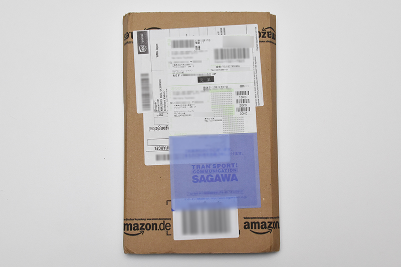 Amazon.deで注文した商品の荷姿
