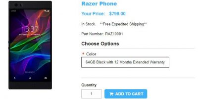 1ShopMobile.com Razer Phone 商品ページ