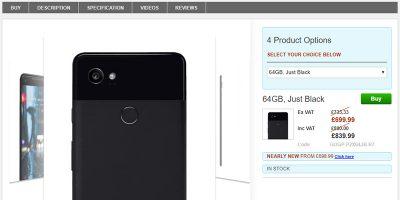 Clove Google Pixel 2 XL 商品ページ