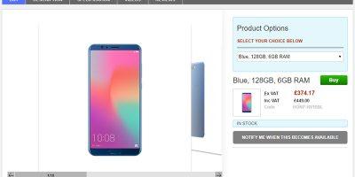 Clove Huawei Honor View 10 商品ページ