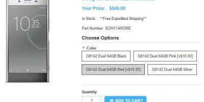 1ShopMobile.com Sony Xperia XZ Premium 商品ページ
