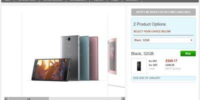 Clove Sony Xperia XA2 商品ページ
