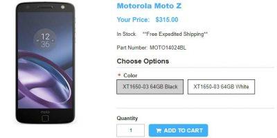1ShopMobile.com Motorola Moto Z 商品ページ