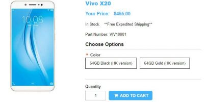 1ShopMobile.com Vivo X20 商品ページ