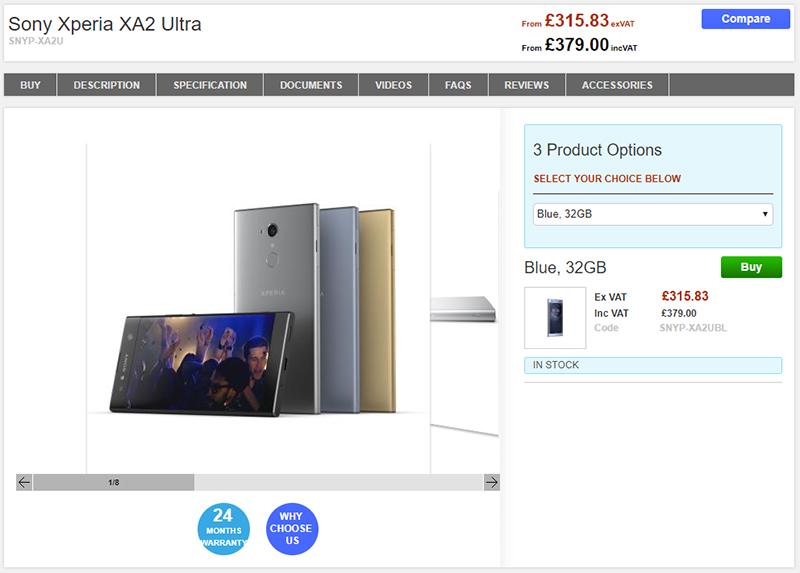 Clove Sony Xperia XA2 Ultra 商品ページ