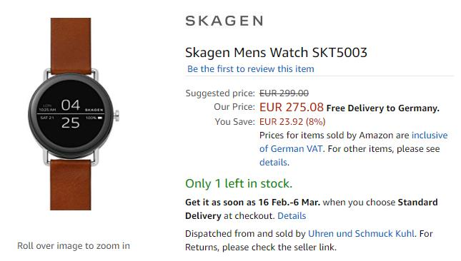 Amazon.de Skagen Falster 商品ページ