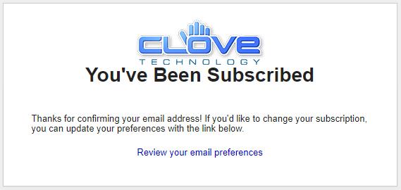 Clove メールマガジン登録キャンペーン
