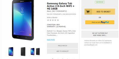 Handtec Samsung Galaxy Tab Active 2 商品ページ
