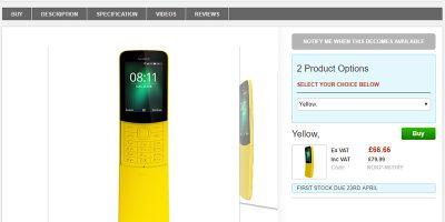 Clove Nokia 8810 4G 商品ページ